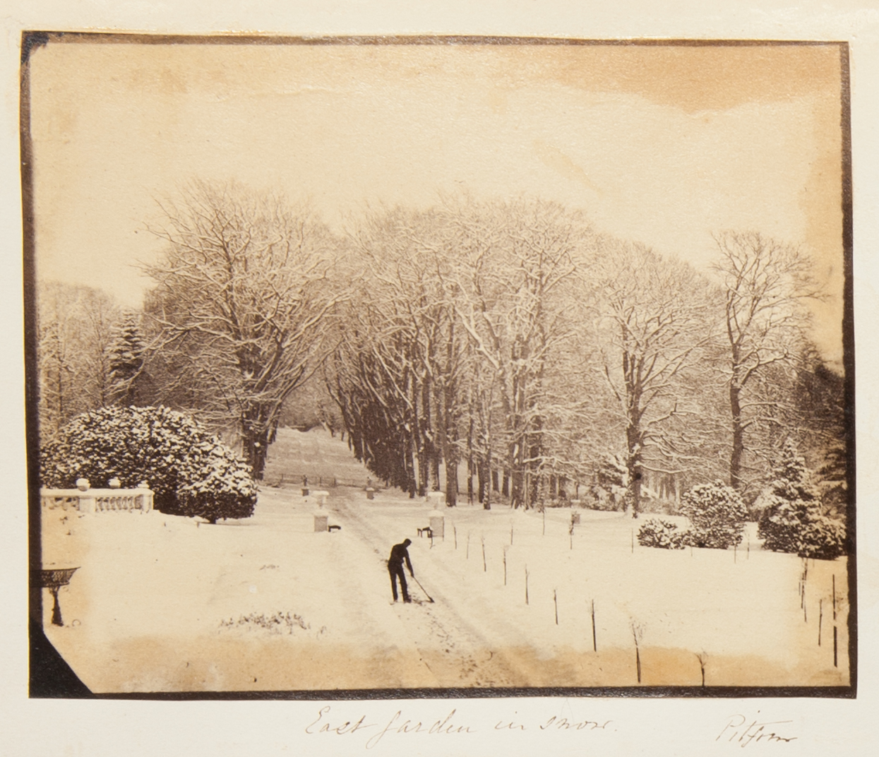 The East Garden in Snow, from the Georgina Ferguson Album