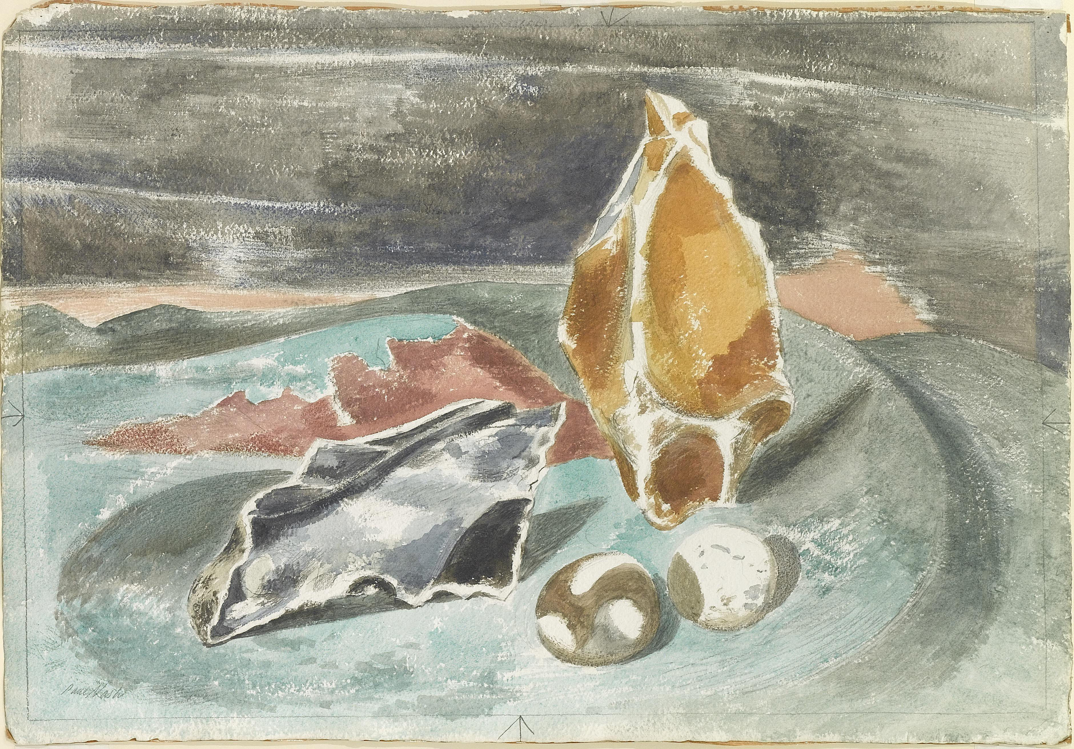 1937, watercolour and pencil on paper, 37.1 x 55 cm. Collection of Arts Council Collection, Southbank Centre (AC 30).