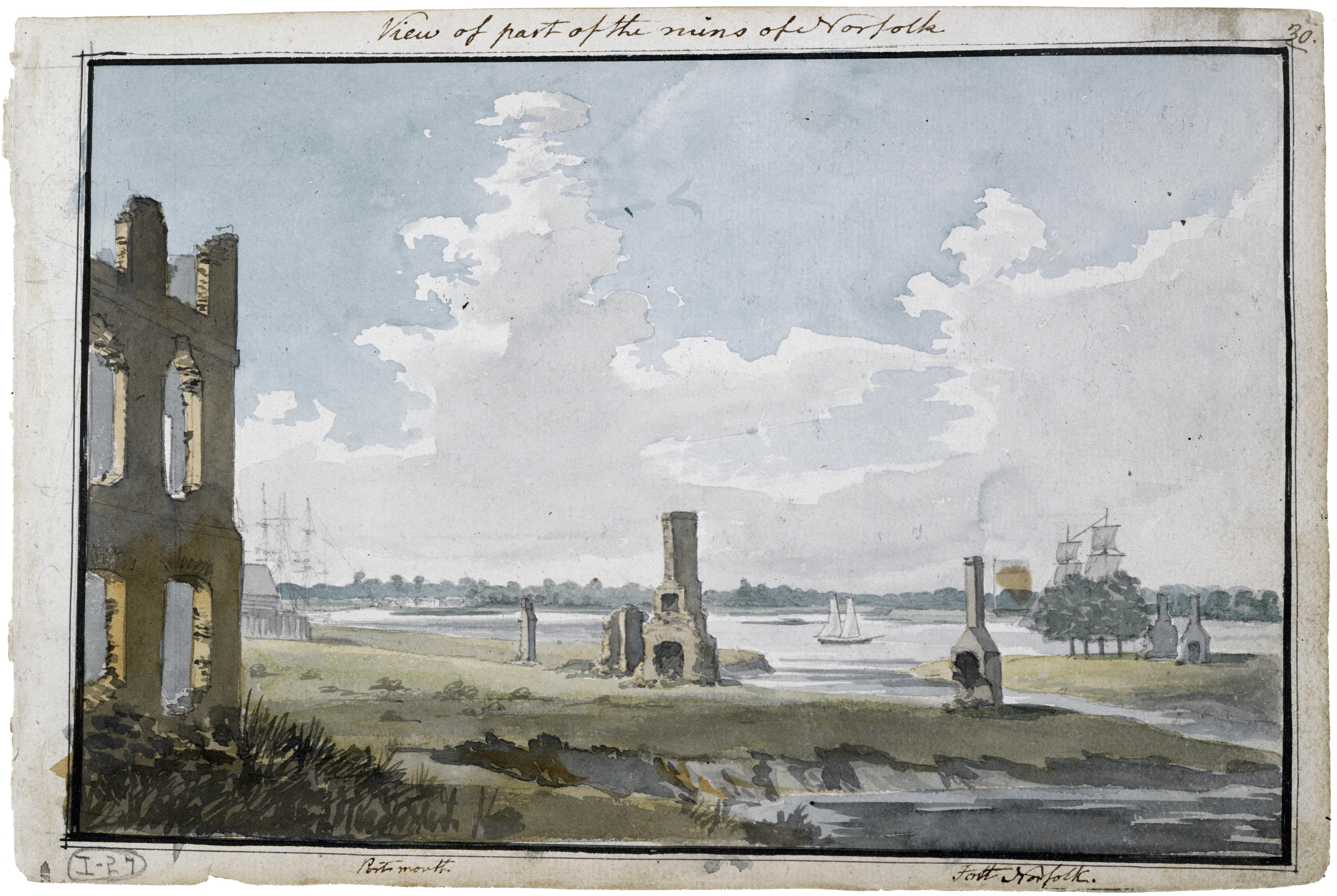 1796–98, watercolour, 17.7 x 26.6 cm. Collection of Maryland Historical Society (1960-108-1-1-27).