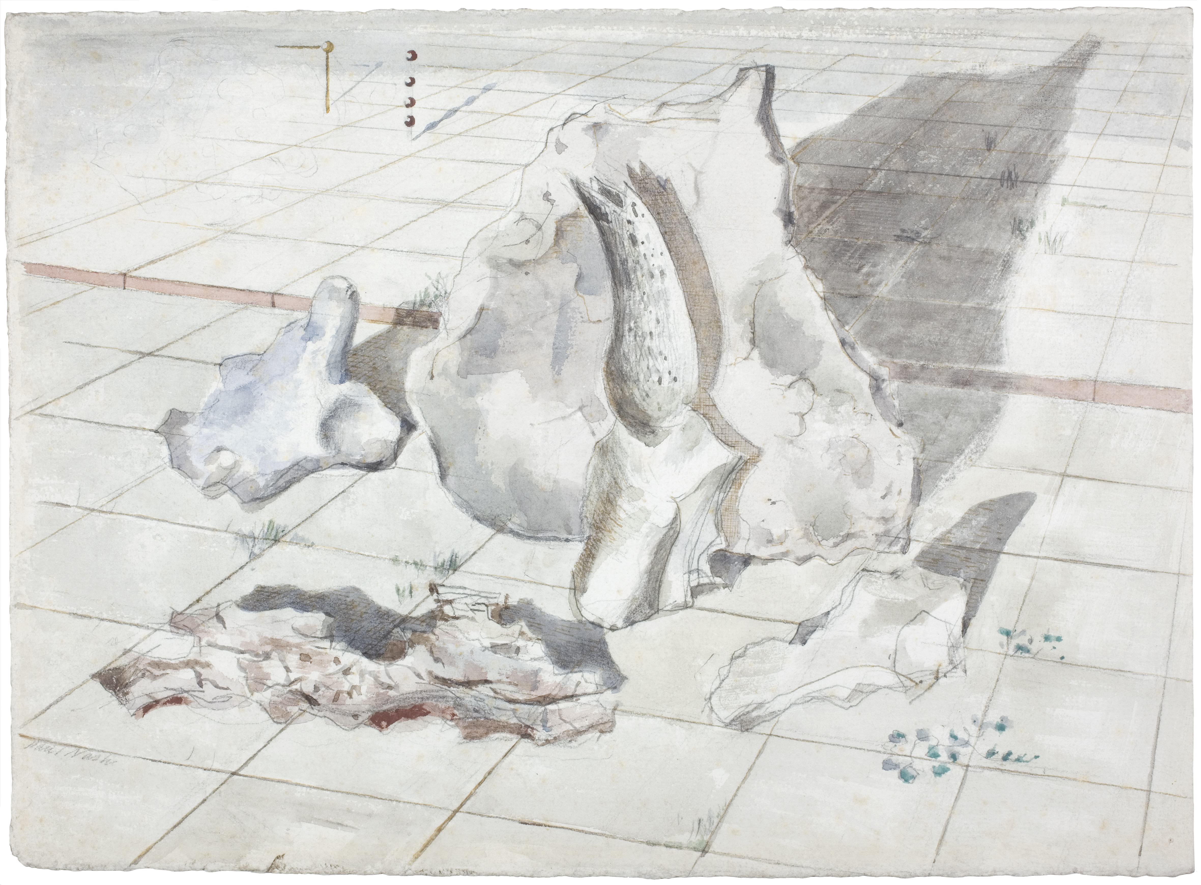 1934, watercolour and pencil on paper, 28.4 x 39.4 cm. Collection of The Daniel Katz Gallery, London.