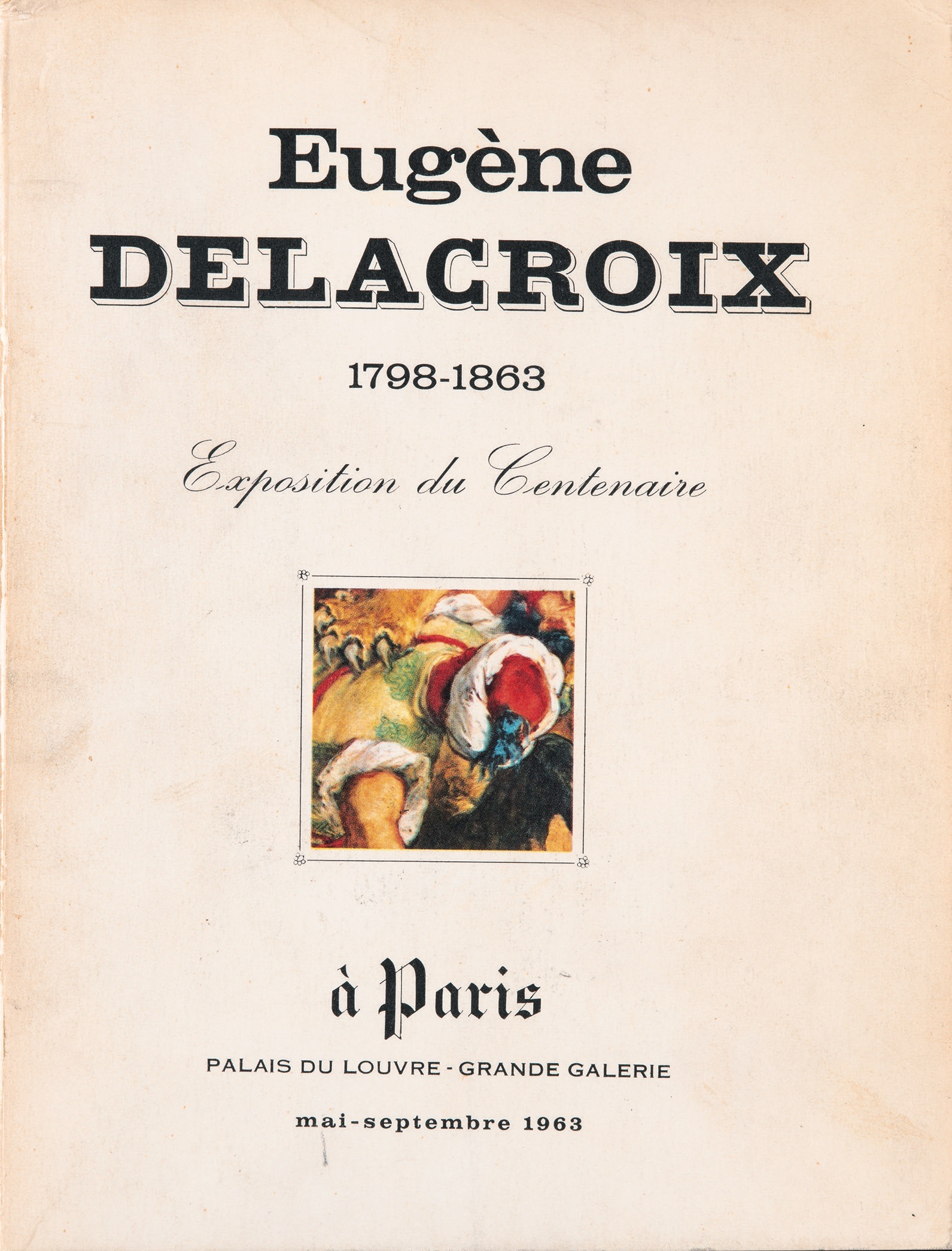 Louvre, Paris, May-September 1963, (Paris: Ministry of Cultural Affairs, 1963): jacket.