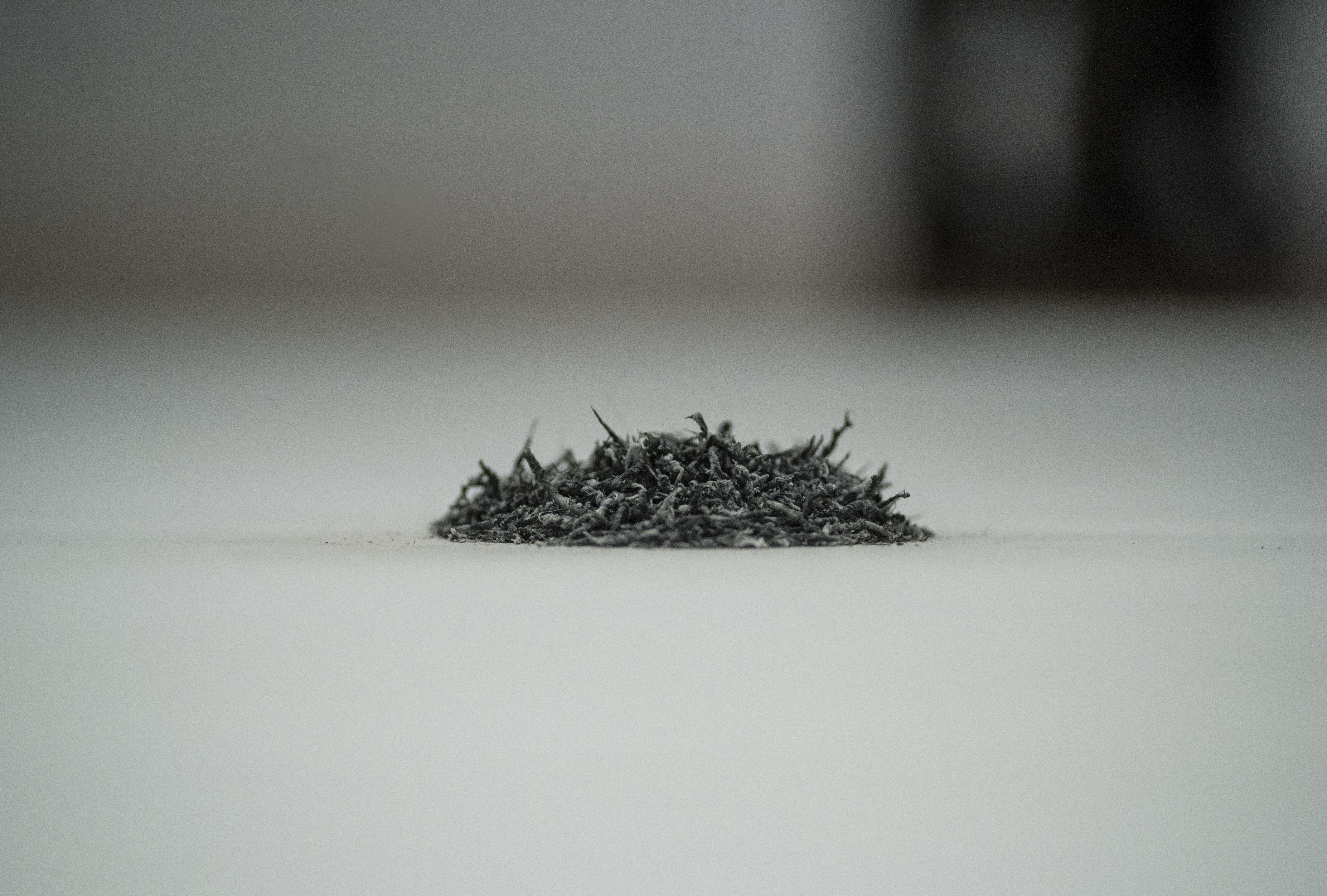 Rubber shavings made during Bettina Fung's performance of