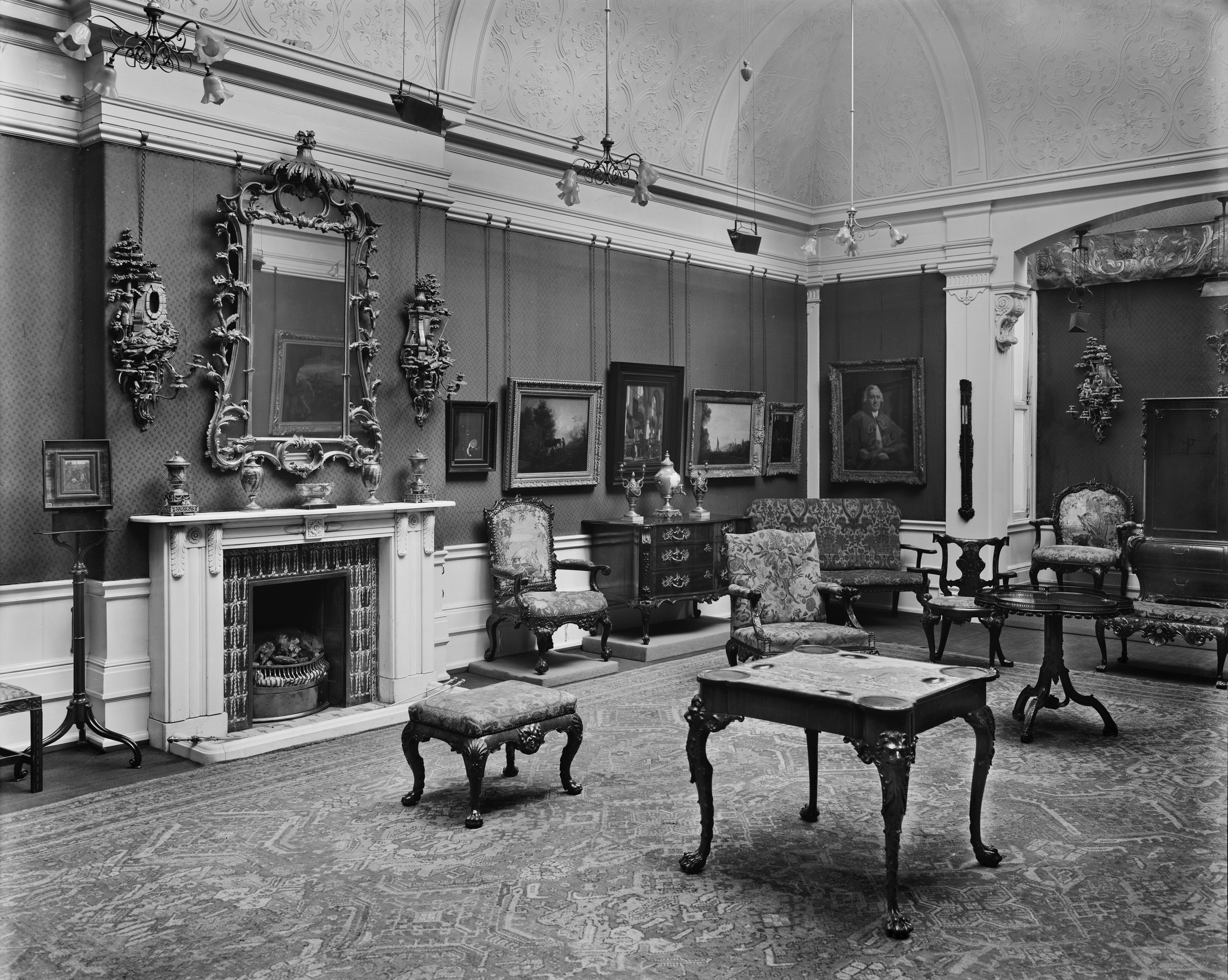 Interior of the Burlington Fine Arts Club, 17 Savile Row.