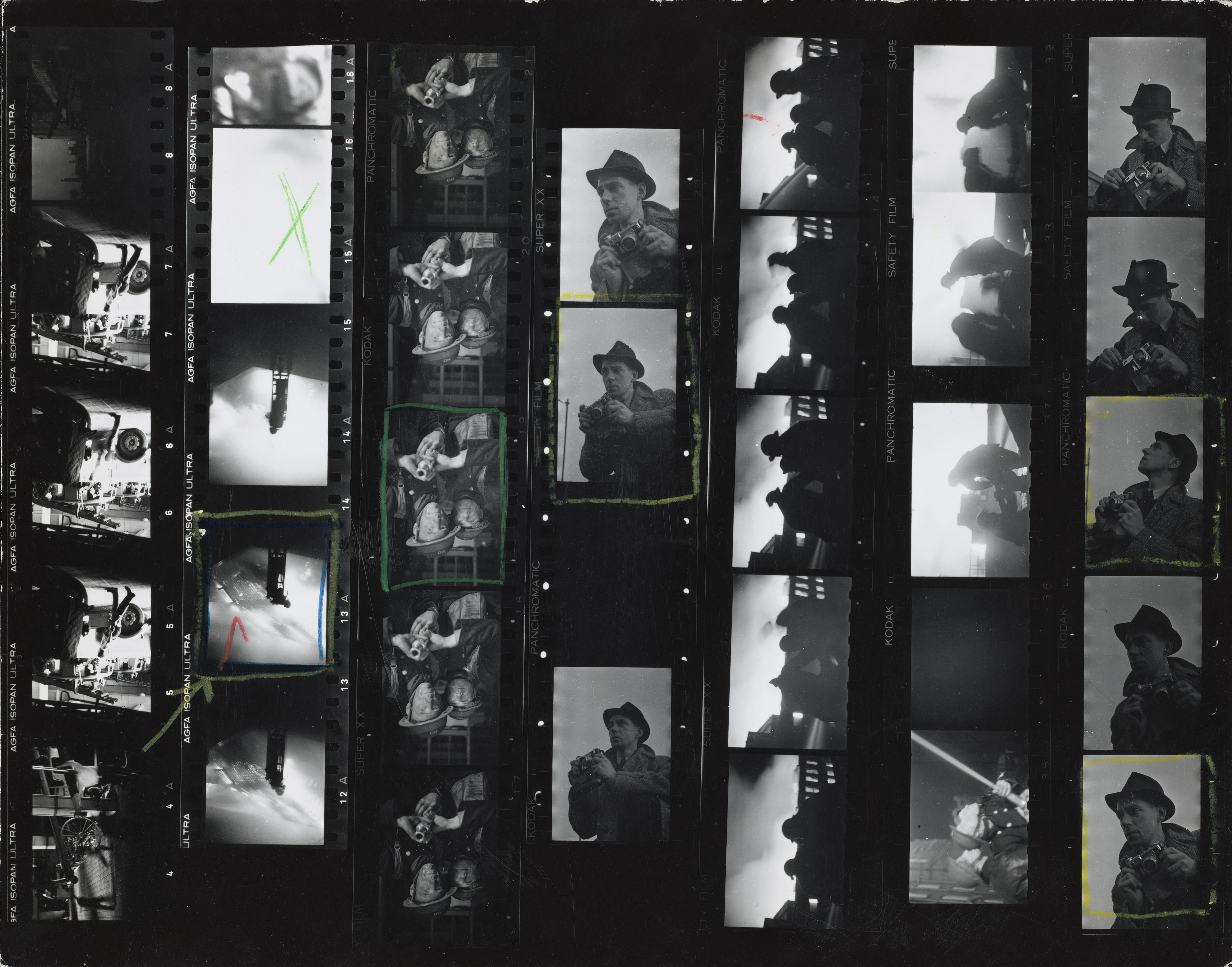 "Contact sheet with versions of the cover image of ""Picture Post"""