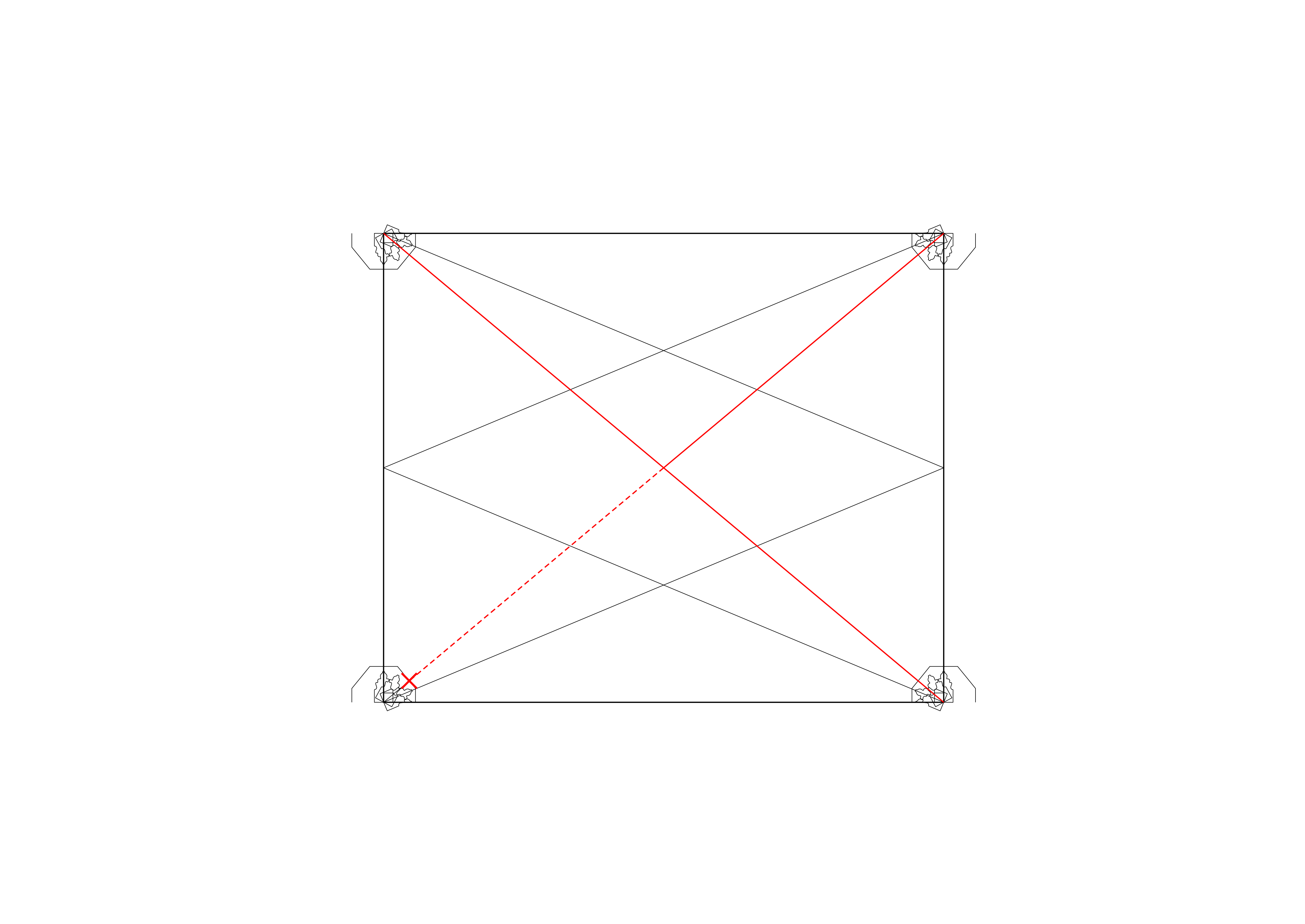 <i>showing addition of diagonals and centre of bay to edge of abacus dimension</i>