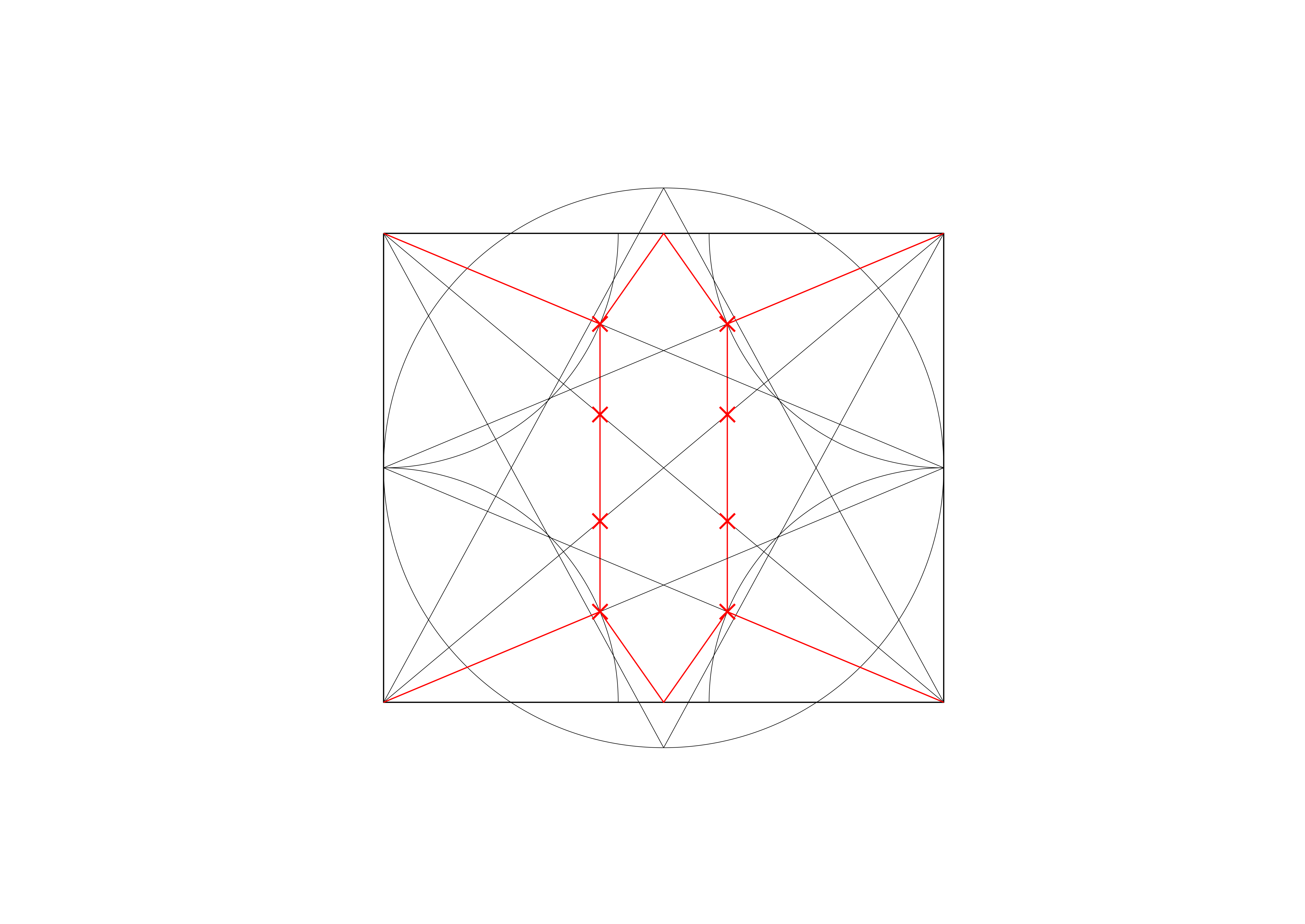 <i>where the intersection between these liernes and the diagonals positions the inner ring of bosses and the central saltire</i>