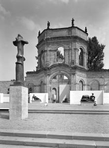 at documenta I, Kassel, Germany, 1955, (showing works by Henry Moore)