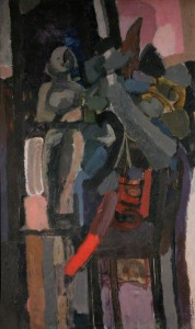 1958, oil on hardboard, 121.5 × 71.3 cm. Collection of Royal College of Art (RCA_CC722).