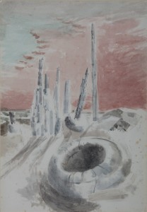 1937, pencil, black chalk, and watercolour on paper, 58.7 x 40 cm. Collection of The Whitworth, University of Manchester (D.1950.10).