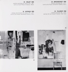 Whitechapel Gallery, February–March 1964 (London: Whitechapel Gallery, 1964): plates 24–25.