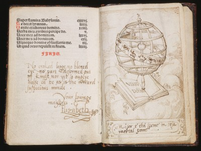 Prayer book with Armillary Sphere and Verses from Petrarch