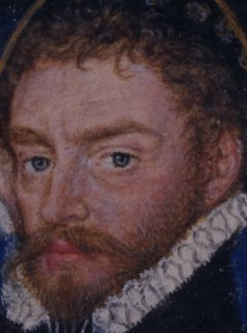 Man in an Armillary Sphere (detail showing mottled handling of face)