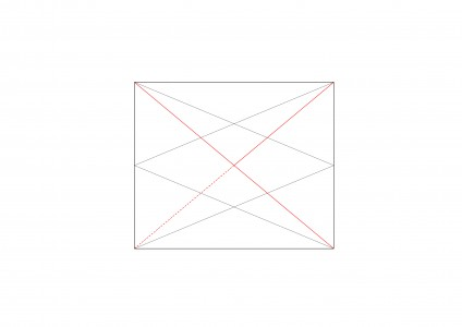 <i>showing addition of diagonals and centre of bay to corner dimension</i>