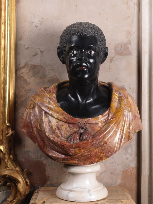 photograph of <i>Bust of Moor</i>, Sanssouci Palace, Berlin-Brandenburg. chromogenic print, 30 x 22 inches, 76.2 x 55.88 cm