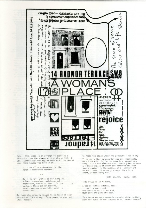 printed in <i>Mama-Women Artists</i>, Women's Art Library