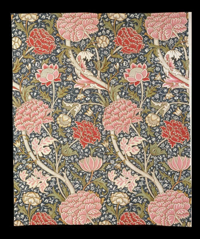 block-printed cotton, 96.5 x 107.9 cm. Victoria and Albert Museum, London