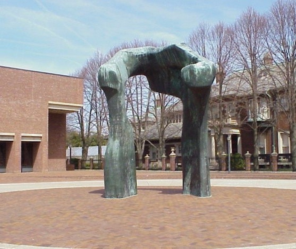 1963, bronze, 5.9 x 3.8 m, in situ at the Cleo Rogers Memorial Library, Columbus, Indiana