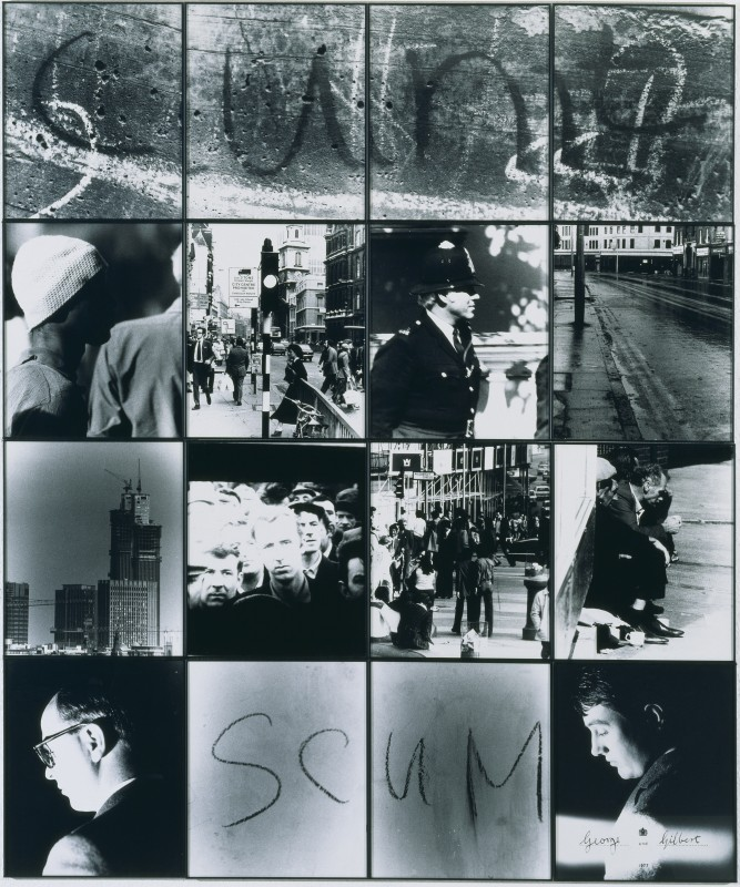1977, 16 photographs, black and white, on paper mounted onto board, 241.3 x 200.7 cm. Collection of Tate, London.