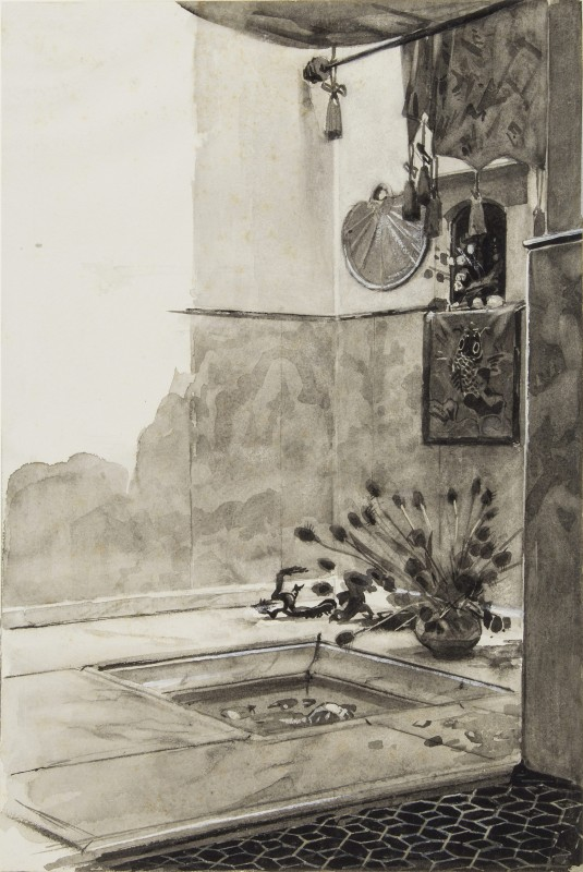 ca. 1890–91, brush and grey ink, grey wash, heightened with white on paper, 38 x 25.5 cm. Collection of Museum of Friesland, Leeuwarden (PTII-1486).