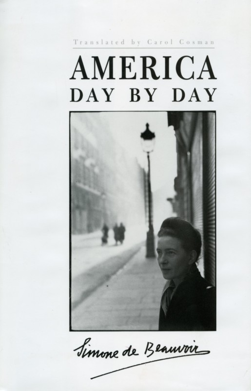 "front cover featuring the photograph ""A Portrait of Simone de Beauvoir Taken in the Latin Quarter, Paris, 1944"" by Henri Cartier-Bresson (Berkeley, CA: University of California Press, 1999), first published 1954, translated edition published 1999. Ina Clausen and Nicole Hayward (design)."