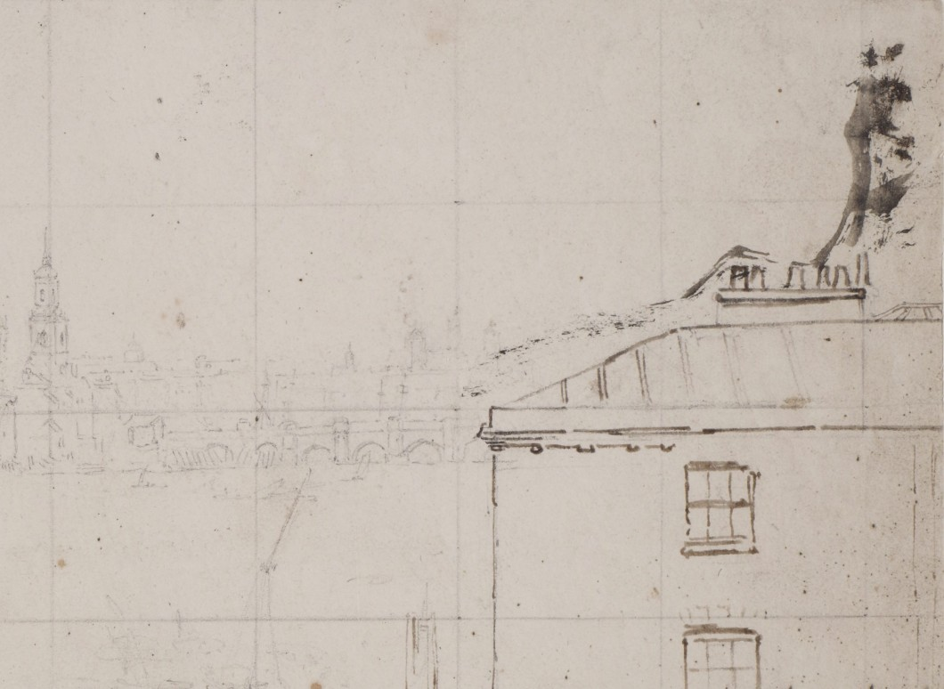 ca. 1801, graphite and pen and ink on wove paper, 32 x 51 cm. Collection of The London Metropolitan Archives (q8972599).