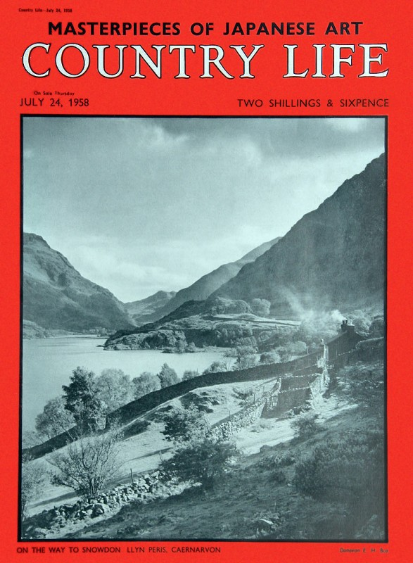 "24 July 1958, featuring photograph titled ""On the Way to Snowdon Llyn Peris, Caernarvon"" by E.H. Box, date unknown."