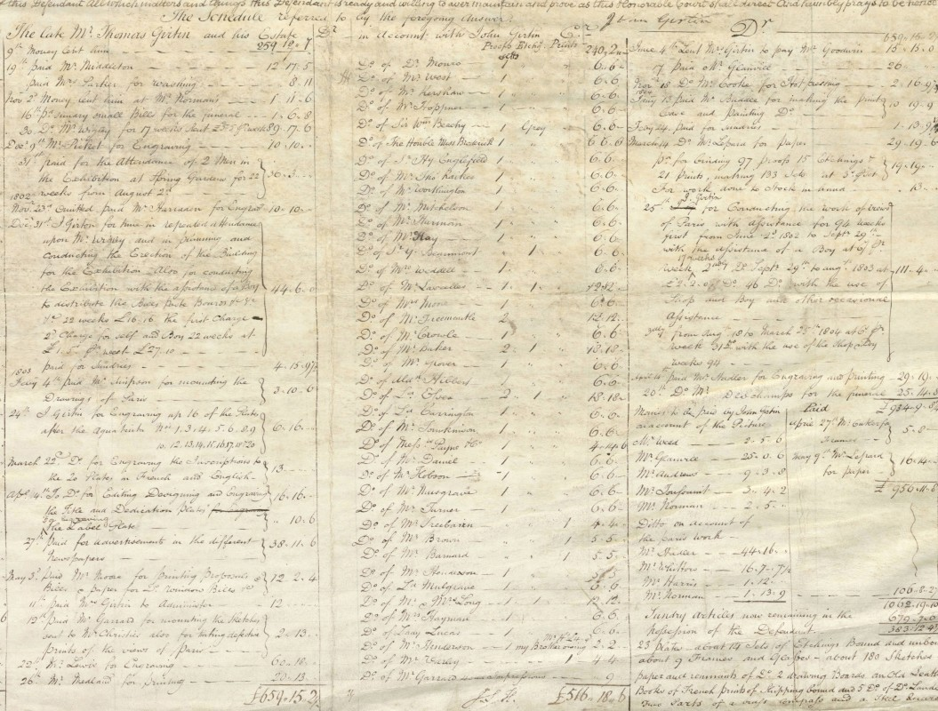 Chancery Proceedings, 14 May 1804. Collection of The National Archives (C 13/40/6 [W1804 G3]).