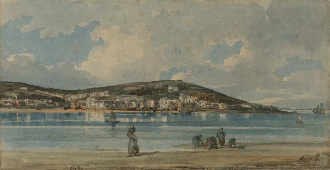 ca. 1789-1801, graphite, brown ink and watercolour on laid paper, 24.5 x 47.2 cm. Collection of The Courtauld Gallery, London (D.1952.RW.846).