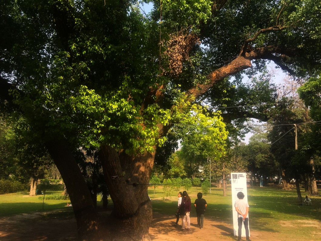 2018, audio installation, total duration 43 minutes 30 seconds. Photographic documentation of site-specific work installed within the Bagh-e-Jinnah botanical gardens, Lahore, Pakistan, on the occasion of the Lahore Biennale 2018.