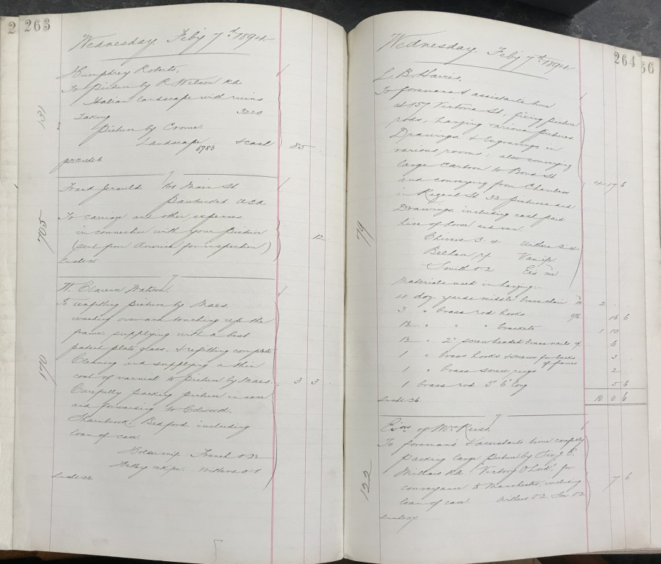 1893-1895: pp.263-264. Collection of the National Gallery Archive (NGA27/13/3/14).