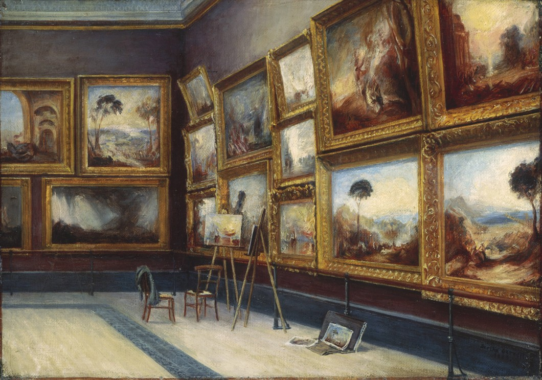 A Corner of The Turner Room in the National Gallery