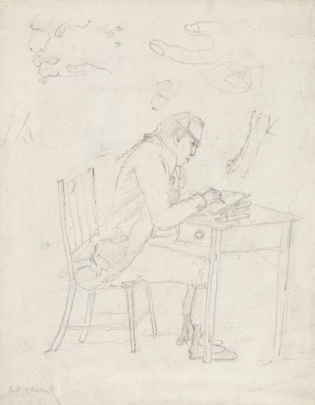 Thomas Hearne Sketching at a Table