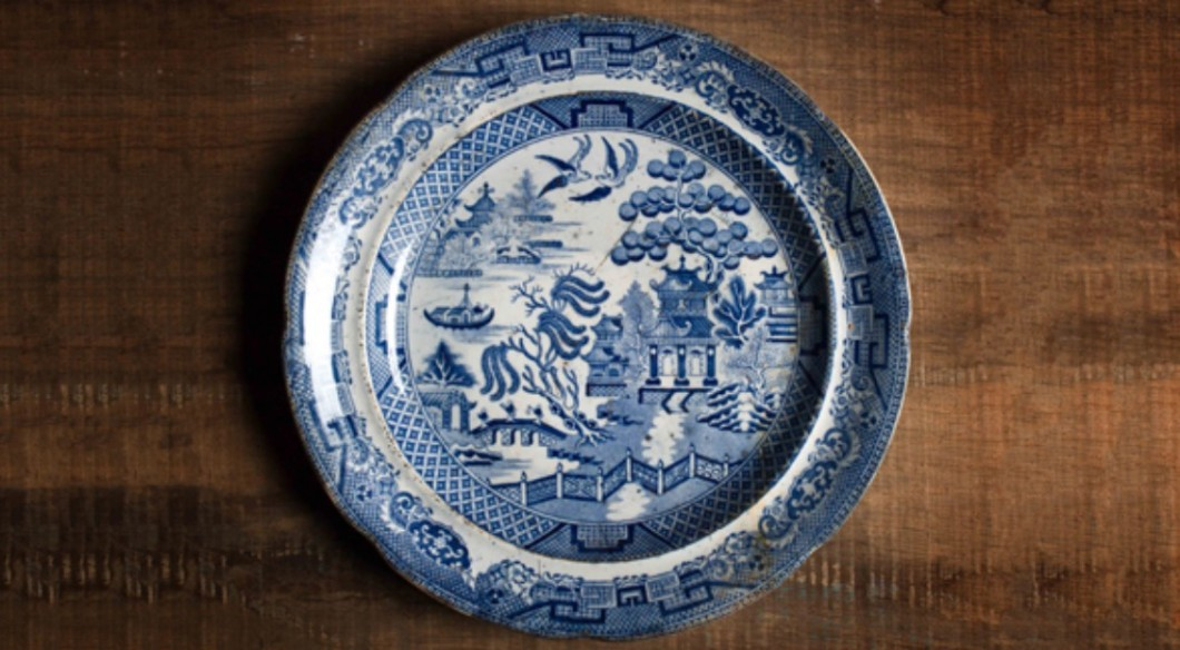 Blue Willow Dinner Plate from HMS Erebus