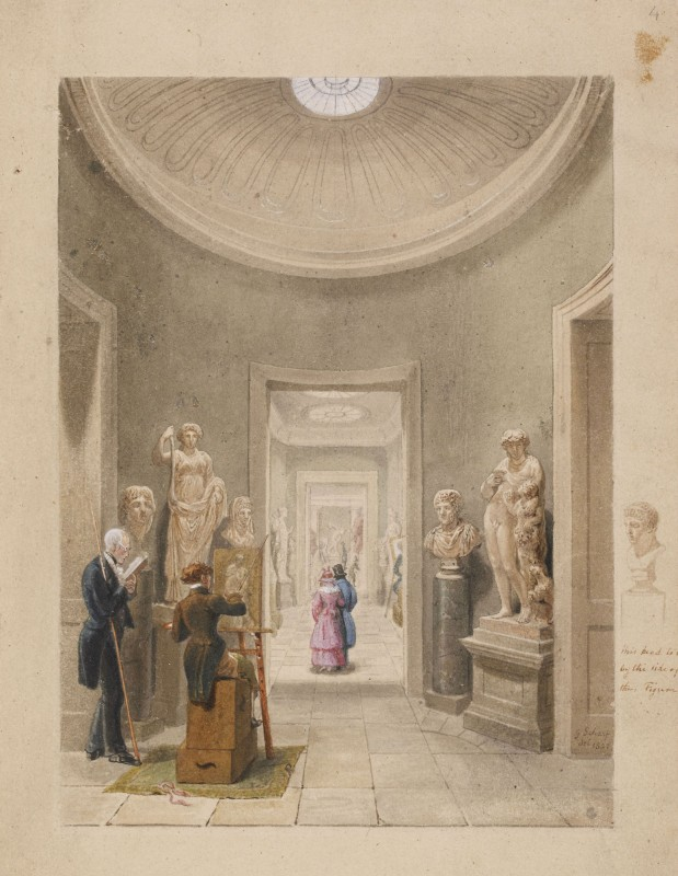 1827, watercolour, 30.6 x 22 cm. Collection of the British Museum.
