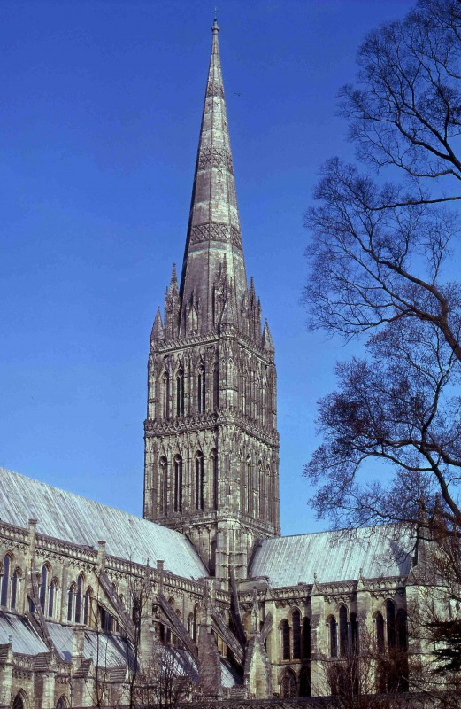 <i>tower and spire from the south-west</i>.