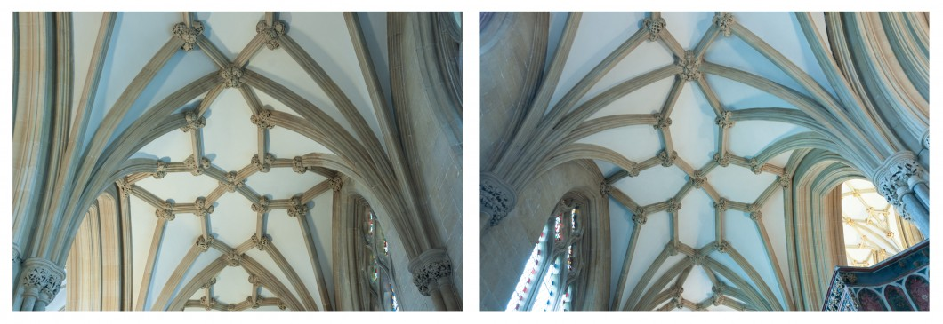 <i>and south aisle (right)</i>, Wells Cathedral.