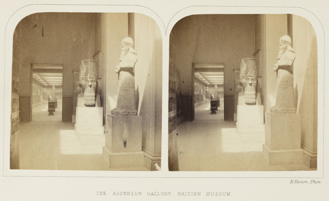 stereoscopic pair of photographs, ca. 1850s.